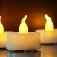 Wholesale Wholesales Candels - Yellow Small Tea light LED Candle Wedding Favors Best Selling In Russia Candels Home Decoration