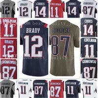 Wholesale Patriots Jersey Xxl - Men's New England Jersey Patriot 12 Tom Brady jersey 87 Rob Gronkowski 11 Julian Edelman Rush 2017 Salute to Service Limited Jerseys