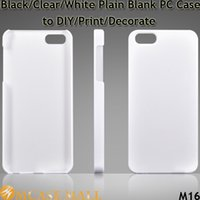 Branco liso / claro Telefone Cobertura do PC Capa em branco para iPhone 5S 5 5G 4 4S para iPhone 6 i6 Plus Galaxy S4 Galaxy S5 para decorar / DIY / Imprimir