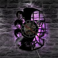 Wholesale Led Clock Diy - Pink Floyd Best Custommade Gifts Home Decor Popular Modern Design Wall Art Decal Sticker Black DIY 3D Led Backlight Vinyl Record Wall Clock