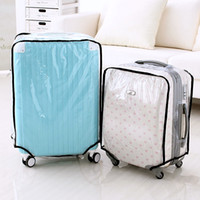 Wholesale Luggage 28 Inch Travels - Wholesale- Fashion Waterproof Dustproof Rain Cover Clear Luggage Cover Travel Luggage Suitcase Cover 4 Size 20-28 Inch 63366