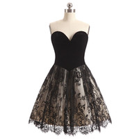 short black lace dresses for women UK - Charming Lace 2018 Sweetheart Women Homecoming Dresses Short Prom Party Gowns Cheap Tiered Skirt A Line Princess Prom Gown For Juniors Ball