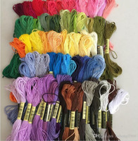 Wholesale thread for cross stitch - DIY Handmade Thread Cross Stitch Cotton Embroidery Sewing Skeins Spiraea Floss For Crafts Threads Accessories Many Colors 12qq CZ