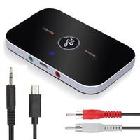 bluetooth empfänger kopfhöreradapter großhandel-Bluetooth Audio Adapter Kabelloser Bluetooth 4.1-Sender und -Empfänger 2-in-1-Kfz-Einbausatz (3,5 mm) für TV- / Heimstereokopfhörer, Lautsprecher