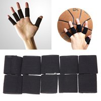 10Pcs / Set Sport Finger Stecche Bands Bandage Supporto Wrap Basket Calcio Fingerstall Cappucci Protector