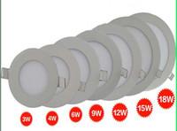 luz empotrada cocina al por mayor-3w 4W 6W 9W 12W 15W 18W redonda y cuadrada luz del panel LED, lámpara empotrada en el techo, apta para balcón, inodoro y cocina
