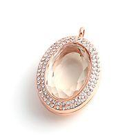 manyetik kilitler kristaller toptan satış-Yeni moda Kolyeler pendnts oval Cam DIY madalyon takı aksesuarları manyetik yüzer charm Kristal lockets