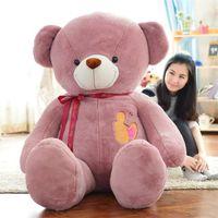 Wholesale Toys Bear Biggest - giant plush panda bear skin 90cm 130cm 160cm Biggest Lovely Soft Huge Giant panda factory price high quality