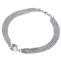 Wholesale Bracelet Band Diy - New Band 925 Sterling Silver Bracelet Snake Chain Screw Fits European Charms Silver Beads DIY Jewelry 17-22cm Length