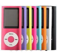 4gb micro sd großhandel-NEUER 4. GENER MP3 MP4 Spieler Schlanker 4. 1.8