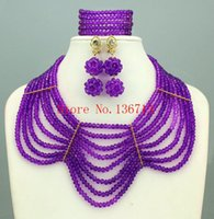 Wholesale mexican costumes women resale online - 2016 Exclusive African Beads Balls Costume Jewelry Set Nigerian Beads Fashion Necklace Set Gift For Women SD808