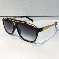 Wholesale Mascot Sunglasses - MASCOT Sunglasses Luxury Popular Retro Vintage Men Brand Designer Sunglasses Shiny Gold Summer Style Laser Logo Gold Plated With Case