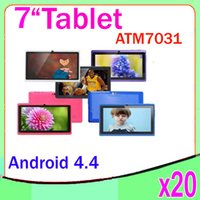 Wholesale 17 Tablet Pc - Quad Core Android 4.4 Bluetooth Flash Light Tablet PC 7 inch Capacitive Screen ATM-7031 20pcs ZY-MID-17