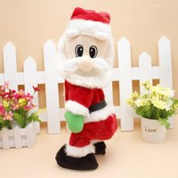 Wholesale best electronic dance music resale online - Hot Selling Kids Christmas Toy Santa Claus Dancing Shaking Hips Music Electronic Toy Best Christmas Gifts Toys cm With Retail Box