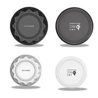 Qi Fast Wireless Chargers pad Diamantes ultrafinos com luz LED com cabo USB