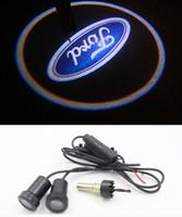 logotipo do ford 3d venda por atacado-Led 7 W Logotipo Do Carro Porta de Luz para Ford S-MAX Foco Mondeo Projetor Santo Sombra 3D