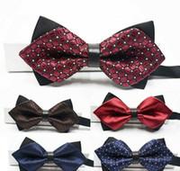 Wholesale Tie Knots Bow Men Black - men or womwen's bow tie business necessity formal wear wedding products leisure time tip double-deck kinds of colors