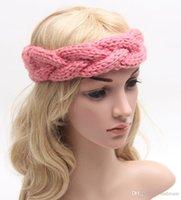 Wholesale Ear Cuff Band - 8 colors woolen Crochet headband women knit twist hair bands Headwear Winter Ear warm cuffs women jewelry 240231