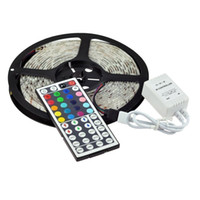 12v led-lichtstreifen-kit großhandel-16.4ft LED flexibles Licht RGB 300 LED SMD 5050 LED beleuchtet wasserdichte Farbband des Streifen-Installationssatz-LED Weihnachtsfeiertags-Innendecken-Partei-Dekoration