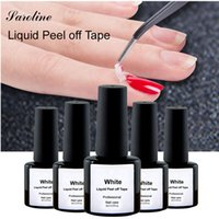 All'ingrosso- Nastro in lattice Palizzata per Easy Clean Base Gel Coat Care Manicure Nail Polish Colla Bianco Peel Off Liquid Nail Art Strumenti di bellezza fai da te