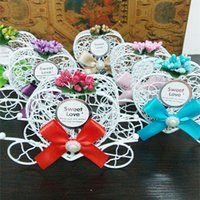 Wholesale Sweet Candy Box Red - hot selling sweet box for cookies candy Wedding party decoration Favor gift candy chocolate boxes White Bird Cage Wedding Gift Box HS9208