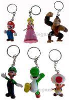 Wholesale Super Mario Bros Keychains - 2015 New Arrive Super Mario Bros Action Figure keychain with tag 60 pcs 10 set 4-7cm Super mario Keychains