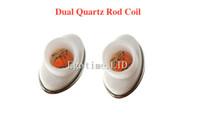 Wholesale Micro G Electronic - DHL Dual Quartz ceramic Coil Dual replacement Coil head for elip micro g Atomizer Tank wax Replacement Core Head electronic cigarette