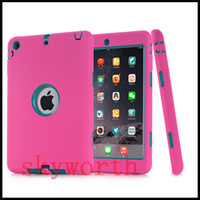 Wholesale Ipad3 Case Silicon - Defender shockproof Robot Case military Extreme Heavy Duty silicon cover for ipad pro 9.7 2 3 4 5 6 air 2017 mini
