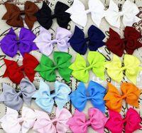 boutique bows for girls 2018 - 1000X Fashion Baby Hair Bows Clips Boutique Hair Pin Grosgrain Ribbon Bows Hairpins Kids Headwear hair Accessories for girls