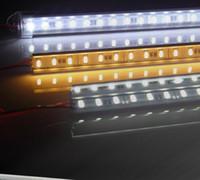 Wholesale Led Bar Side - 1M 60 SMD 5050 LED Rigid Strip Light Bar Lamp Warm Cool White Under Cabinet Lighting + 3M Adhesive Tape on Back Side