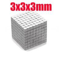 neodimyum mıknatıslar x 3mm toptan satış-3 * 3 * 3 n45 mıknatıs Toptan 100 adet Güçlü Blok Küp Mıknatıslar 3mm x 3mm x 3mm Nadir Toprak Neodimyum mıknatıslar