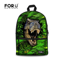 Wholesale Backpack Zoo School Bag - 2015 Fashion Children Canvas School Bags 3D Zoo Animals Schoolbag for Boys Men's Travel Bag Cool Dinosaur Backpack Kids Bookbags