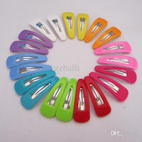 Wholesale Mix Snap Hair - Wholesale-Baby Girl Colorful Hair Pins Baby Girls Hair Clip Snap Band Hairpins Toddler Kids Ladybird Fashion Accessories Gift Mixed Colors