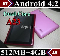 Wholesale DHL X Q88 Dual Core Tablet PC Inch Capacitive Screen Android AllWinner A33 MB RAM GB TA2