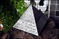 Wholesale Collection Tins - Classic retro decorative pyramid carving ashtray creative Tin Egyptian Pyramids classic retro decorative ashtray Collection
