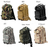 Wholesale Outdoor Military Tactical Backpack - 30L Outdoor Sport Military Tactical Backpack Molle Rucksacks Camping Trekking Bag backpacks 50pcs Free DHL Fedex