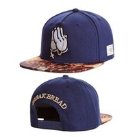 Wholesale bread man - Dark Blue BREAK BREAD Cayler & Sons Snapback Hats Hip Hop Adjustable Hats for men or women caps mix order drop shipping TYMY 78