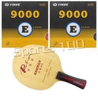 tischtennis gummi pro großhandel-Wholesale- Pro Tischtennis Combo Paddle Racket Palio ENERGY 03 Klinge lange Shakehand Hand-FL mit 2x Yinhe 9000E Rubbers