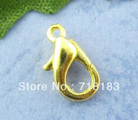 Wholesale Parrot Nose - Wholesales 100Pcs Gold Plated Lobster Parrot Clasps 12x6mm Key Ring Jewelry Findings Free Shipping(W02832)
