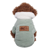 Wholesale Boys Corduroy Coats - Teddy jacket dog cotton corduroy jacket puppy outfits autumn and winter cute dog clothes dog clothes for small dogs boy