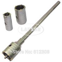 Wholesale Masonry Hole Saw - SDS Max Shank 30mm 40mm 50mm set Wall Drill Bit Hole Saw Set Cutter Tool Kit 350mm Long Core For Wall Masonry Brick Stone Coment