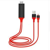 mhl hdmi hdtv adapter großhandel-2 Mt Hohe Qualität USB hdtv für HDMI kabel APPLE X / 8 plus / 7/6 s / 6/5 s MHL Konverter TV Video AV digital adapter Projektor