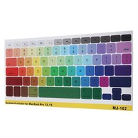 Wholesale Originals Pro - Wholesale-Hot Sale Original Colourful Silicone Soft Keyboard Cover Skin Sticker for Apple for Macbook pro retina 13 15 17 inches Layout