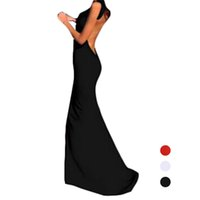 Wholesale Clubwear Backless Gown - S5Q Women Backless Prom Ball Gown Evening Party Bodycon Clubwear Maxi Long Dress AAAEUO