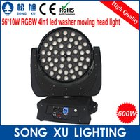 Atacado-56 * 10W 4in1 LED Zoom Moving Head Light para Stage Equipment / SX-MH5610