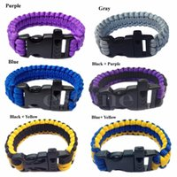 Wholesale Order Parachute Cord - Free Shipping New Survival Bracelet Whistle Shackle Buckle Cord Parachute For Outdoor Camping order<$18no track