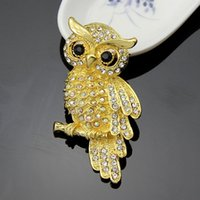 Wholesale Imitation Gold Upscale - 2016 Free postage new alloy owl brooch brooch ancient gold jewelry upscale clothing accessories clothing wholesale gift