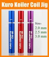 Wholesale E Ciga - Kuro Koiler Coil Jig Tool Concepts Combined 2mm 2.6mm 3mm Kit Coil jig Coil Winder for e Ciga Kayfun Plume Veil Wrapping Coiler FJ061
