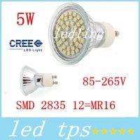 Wholesale Cree Mr16 12v Leds - CREE Led GU10 E27 MR16 Lights Lamp 5W 48 Leds SMD 3528 Led Bulbs Light 120 Angle Cool White Warm White 110-240V 12V