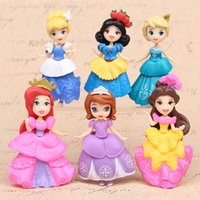 Wholesale 12 Figure Clothes - 6pcs   lot action figures can be changed clothes home princess cute doll with 9cm